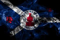 Bandeira do fumo da cidade de Fort Wayne, Indiana State, Estados Unidos da Am?rica ilustração stock