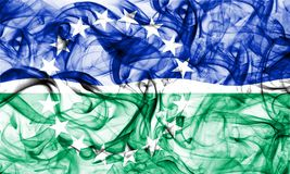 Bandeira do fumo da cidade de Hampton Roads, Virginia State, Estados Unidos da América Imagens de Stock
