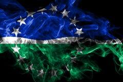 Bandeira do fumo da cidade de Hampton Roads, Virginia State, Estados Unidos da Am?rica ilustração royalty free