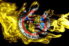 Bandeira do fumo da cidade de Honolulu, estado de Havaí, Estados Unidos da América ilustração stock