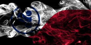 Bandeira do fumo da cidade de Irving, Texas State, Estados Unidos da América Imagens de Stock Royalty Free