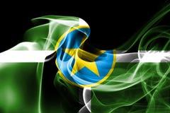 Bandeira do fumo da cidade de Jackson, estado de Mississippi, Estados Unidos de Ame ilustração stock