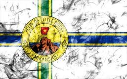 Bandeira do fumo da cidade de Little Rock, estado de Arkansas, Estados Unidos do Am Fotos de Stock