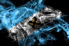 Bandeira do fumo da cidade de Madison, estado de Wisconsin, Estados Unidos da Am?rica ilustração do vetor