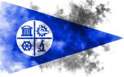 Bandeira do fumo da cidade de Minneapolis, estado de Minnesota, Estados Unidos de A ilustração stock