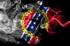 Bandeira do fumo da cidade de Montgomery, estado de Alabama, Estados Unidos da América ilustração stock