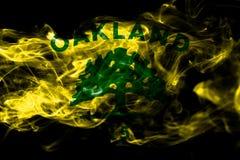 Bandeira do fumo da cidade de Oakland, estado de Califórnia, Estados Unidos de Amer ilustração stock