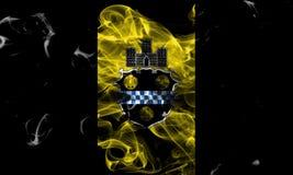 Bandeira do fumo da cidade de Pittsburgh, estado de Pensilvânia, Estados Unidos de imagens de stock royalty free