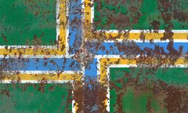 Bandeira do fumo da cidade de Portland, estado de Oregon, Estados Unidos da América Foto de Stock