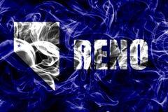 Bandeira do fumo da cidade de Reno, Nevada State, Estados Unidos da América ilustração do vetor