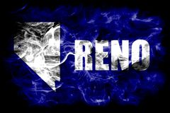 Bandeira do fumo da cidade de Reno, Nevada State, Estados Unidos da América ilustração stock