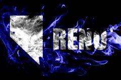 Bandeira do fumo da cidade de Reno, Nevada State, Estados Unidos da América ilustração royalty free