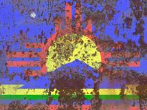 Bandeira do fumo da cidade de Roswell, estado de New mexico, Estados Unidos de Amer Imagem de Stock