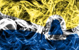 Bandeira do fumo da cidade de San Luis Obispo, estado de Califórnia, Estados Unidos foto de stock