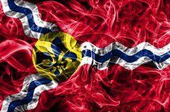 Bandeira do fumo da cidade do Saint Louis, estado de Missouri, Estados Unidos do Am fotografia de stock