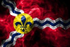 Bandeira do fumo da cidade do Saint Louis, estado de Missouri, Estados Unidos do Am ilustração royalty free