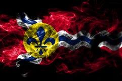 Bandeira do fumo da cidade do Saint Louis, estado de Missouri, Estados Unidos do Am ilustração stock