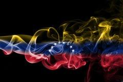Bandeira do fumo da Venezuela fotografia de stock royalty free