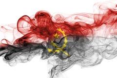 Bandeira do fumo de Angola Imagens de Stock Royalty Free