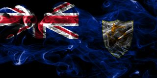 Bandeira do fumo de Anguila, territórios ultramarinos britânicos, bandeira dependente do território de Grâ Bretanha imagem de stock royalty free