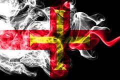 Bandeira do fumo de Guernsey, bandeira dependente do território de Reino Unido imagem de stock