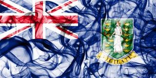 Bandeira do fumo de Ilhas Virgens britânicas, territórios ultramarinos britânicos, bandeira dependente do território de Grâ Breta imagens de stock royalty free