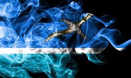 Bandeira do fumo de Midway Islands, bandeira dependente do território do Estados Unidos fotos de stock royalty free