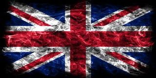 Bandeira do fumo de Reino Unido, bandeira de Union Jack ilustração do vetor