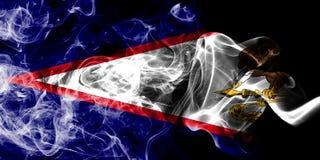 Bandeira do fumo de Samoa Americana, bandeira dependente do território do Estados Unidos imagens de stock royalty free
