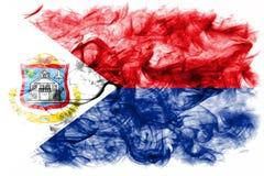 Bandeira do fumo de Sint Maarten, bandeira dependente holandesa do território fotos de stock royalty free