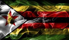Bandeira do fumo de Zimbabwe fotos de stock