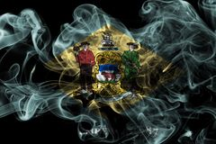 Bandeira do fumo do estado de Delaware, Estados Unidos da América imagens de stock