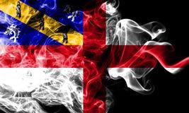 Bandeira do fumo do Herm, bandeira dependente do território de Reino Unido fotografia de stock
