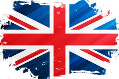 Bandeira do fundo do curso da escova de Reino Unido Bandeira nacional do Reino Unido Union Jack ilustração royalty free