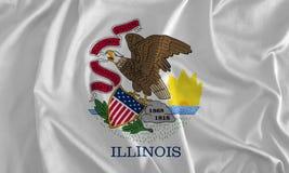 Bandeira do fundo de Illinois, terra de Lincoln ilustração royalty free