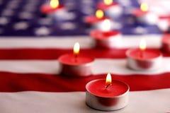 Bandeira do fundo do Estados Unidos da América para a celebração federal nacional dos feriados e o dia de lamentação da relembran Imagens de Stock Royalty Free