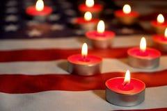Bandeira do fundo do Estados Unidos da América para a celebração federal nacional dos feriados e o dia de lamentação da relembran Imagens de Stock