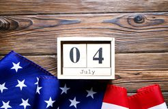 Bandeira do fundo do Estados Unidos da América para a celebração federal nacional do feriado do Dia da Independência Symbolics do Fotos de Stock Royalty Free