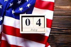 Bandeira do fundo do Estados Unidos da América para a celebração federal nacional do feriado do Dia da Independência Symbolics do Imagens de Stock Royalty Free