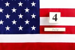 Bandeira do fundo do Estados Unidos da América para a celebração federal nacional do feriado do Dia da Independência Symbolics do Foto de Stock
