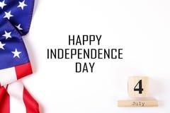Bandeira do fundo do Estados Unidos da América para a celebração federal nacional do feriado do Dia da Independência Symbolics do Imagem de Stock
