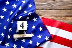 Bandeira do fundo do Estados Unidos da América para a celebração federal nacional do feriado do Dia da Independência Symbolics do Fotos de Stock