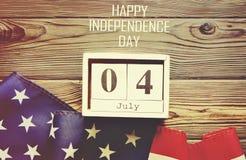 Bandeira do fundo do Estados Unidos da América para a celebração federal nacional do feriado do Dia da Independência Symbolics do Fotografia de Stock