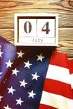 Bandeira do fundo do Estados Unidos da América para a celebração federal nacional do feriado do Dia da Independência Symbolics do Imagens de Stock