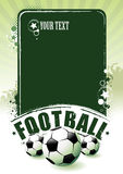 Bandeira do futebol Fotos de Stock