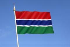 Bandeira do Gambia Fotografia de Stock