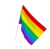 Bandeira do gay e lesbiana ilustração royalty free