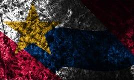 Bandeira do grunge da cidade de Lafayette, Indiana State, Estados Unidos da América Imagens de Stock