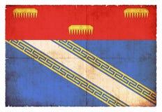Bandeira do Grunge de Ardennes França Imagem de Stock
