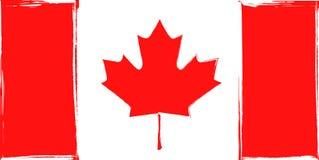 Bandeira do Grunge de Canadá Fotografia de Stock
